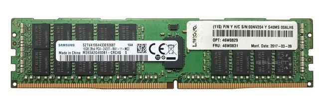 Memory RAM 1x 16GB Lenovo ThinkServer & System X DDR4 2Rx4 2400MHz ECC REGISTERED DIMM | 46W0829