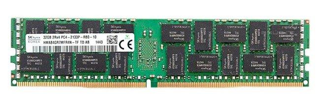 Memory RAM 1x 32GB Hynix ECC REGISTERED DDR4  2133MHz PC4-17000 RDIMM   HMA84GR7MFR4N-TF