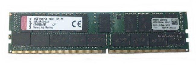Memory RAM 1x 32GB Kingston ECC REGISTERED DDR4 2Rx4 2400MHz PC4-19200 RDIMM   KVR24R17D4/32I
