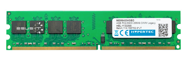 Memory RAM 1x 4GB HYPERTEC NON-ECC UNBUFFERED DDR2 800MHz PC2-6400 UDIMM | MEM64004GBD