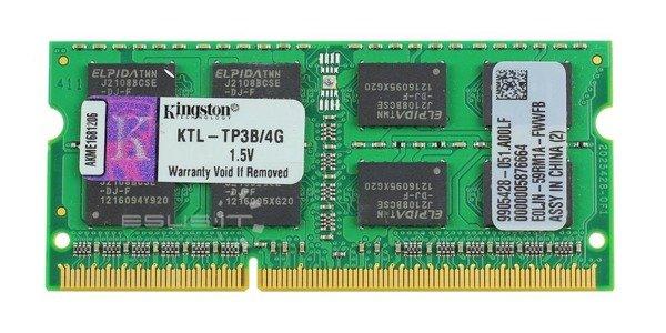 Memory RAM 1x 4GB Kingston SO-DIMM DDR3 1333MHz PC3-10600 | KTL-TP3B/4G