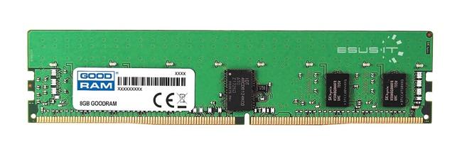 Memory RAM 1x 8GB GoodRAM ECC UNBUFFERED DDR4 2Rx8 2400MHz PC4-19200 UDIMM | W-MEM2400E4D88G