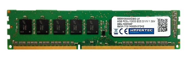 Memory RAM 1x 8GB HYPERTEC ECC UNBUFFERED DDR3  1333MHz PC3-10600 UDIMM | MEM106008GBE-LV