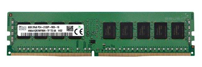 Memory RAM 1x 8GB Hynix ECC REGISTERED DDR4 1Rx4 2400MHz PC4-19200 RDIMM   HMA41GR7AFR4N-UH