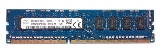 Memory RAM 1x 8GB Hynix ECC UNBUFFERED DDR3  1600MHz PC3-12800 UDIMM | HMT41GU7AFR8A-PB