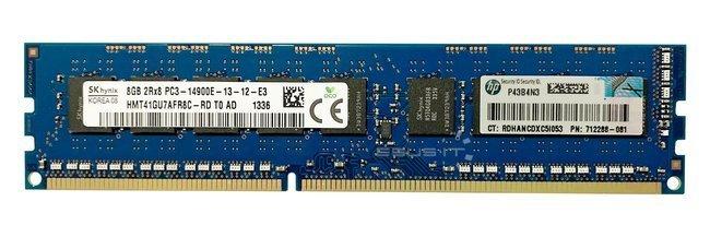 Memory RAM 1x 8GB Hynix ECC UNBUFFERED DDR3  1866MHz PC3-14900 UDIMM | HMT41GU7AFR8C-RD