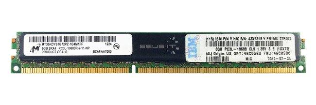 Memory RAM 1x 8GB Micron ECC REGISTERED DDR3  1333MHz PC3-10600 RDIMM | MT36KDYS1G72PZ-1G4