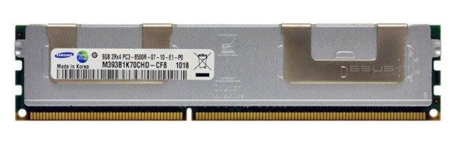 Memory RAM 1x 8GB Samsung ECC REGISTERED DDR3  1066MHz PC3-8500 RDIMM | M393B1K70CHD-CF8